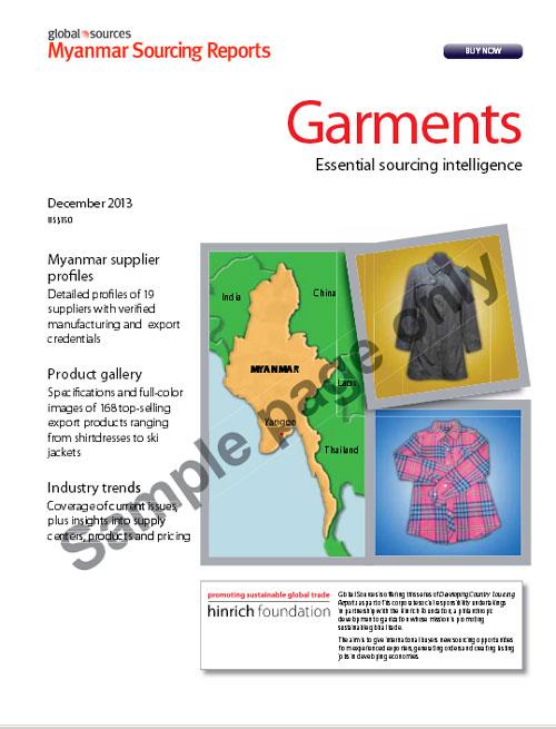 FriedlNet - Myanmar Sourcing Report: Garments