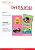 China Sourcing Report: Toys & Games